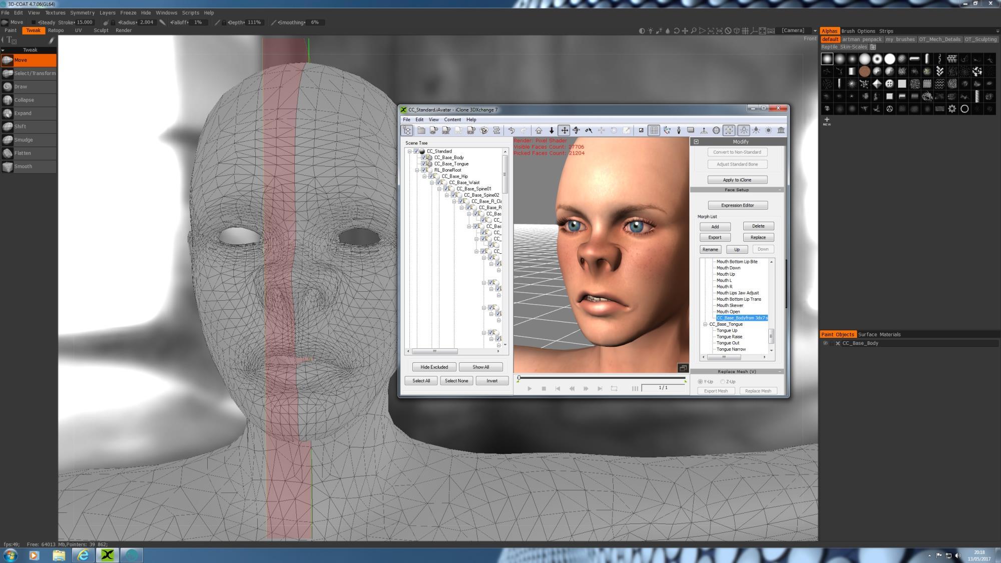 3DCOAT export mesh issue