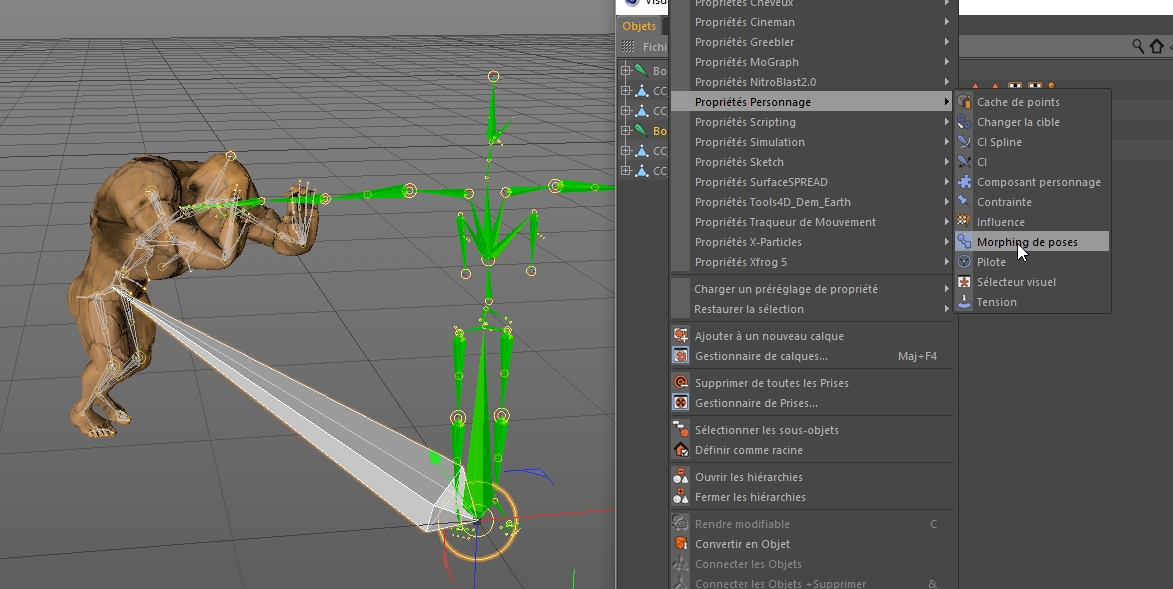 Export Iclone fbx to Cinema4D: solution for the problem of hooked