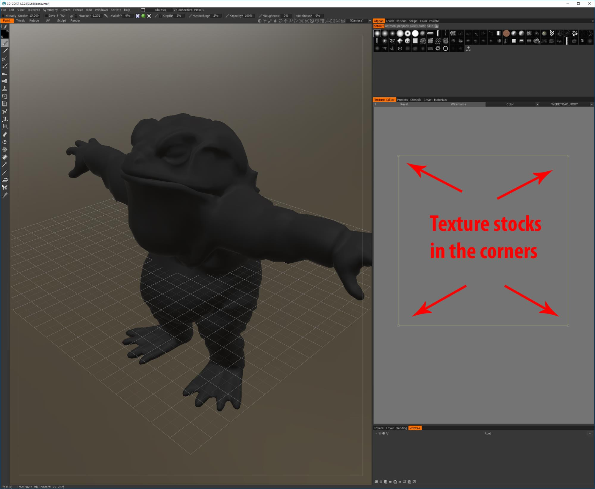 3DCOAT export mesh issue
