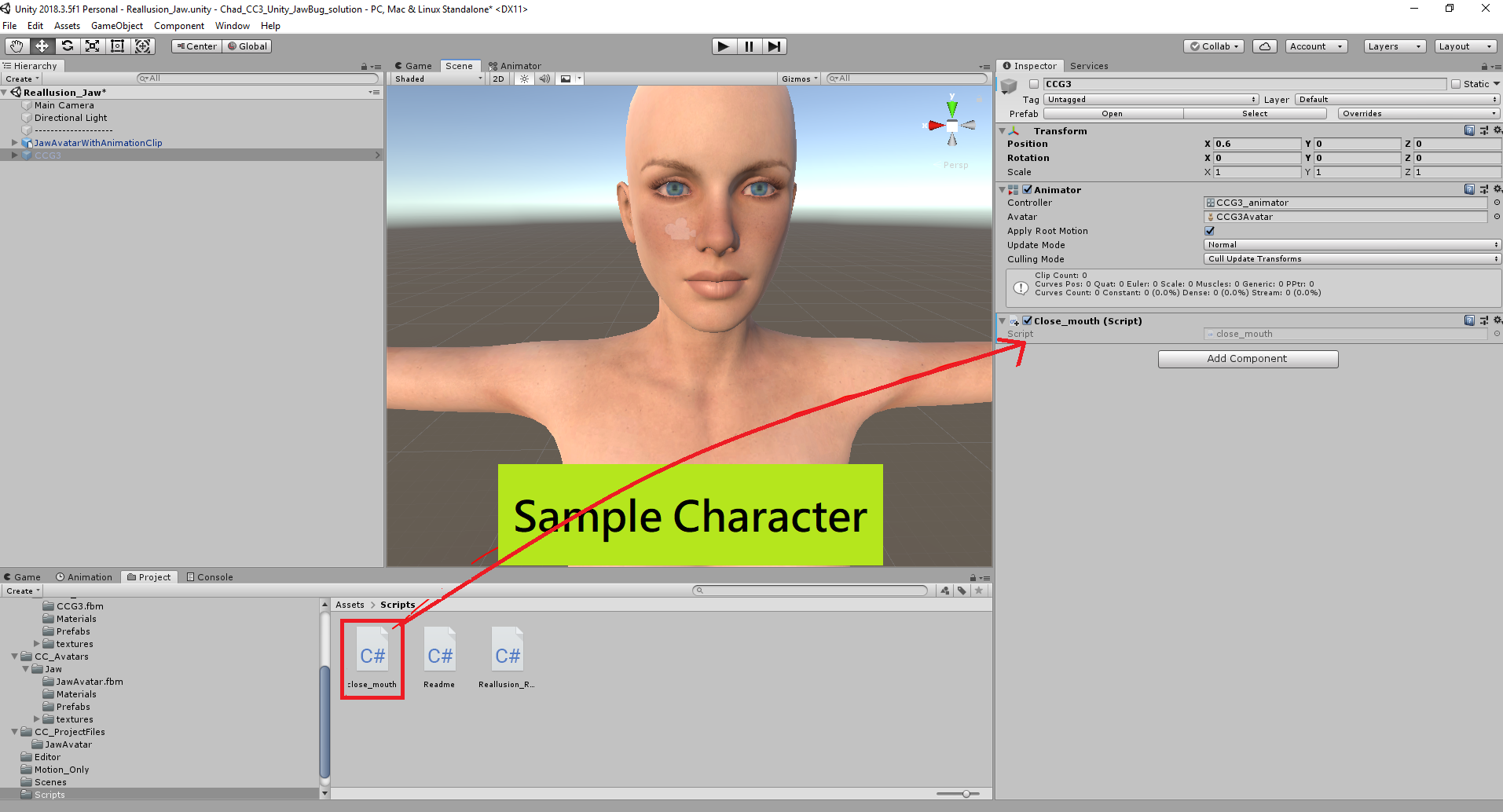 Mouth Open on Daz Character from CC3 to Unity
