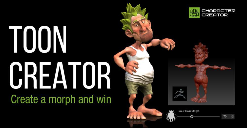 Iclone 5 Cartoon Characters : Toon creator iclone character mini event