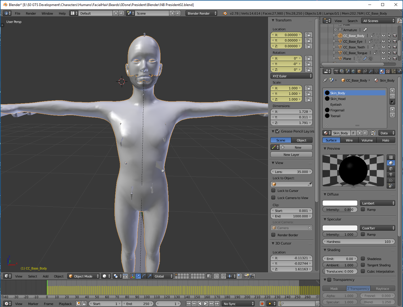 Import CC3 FBX character Exported From Blender Not Working?