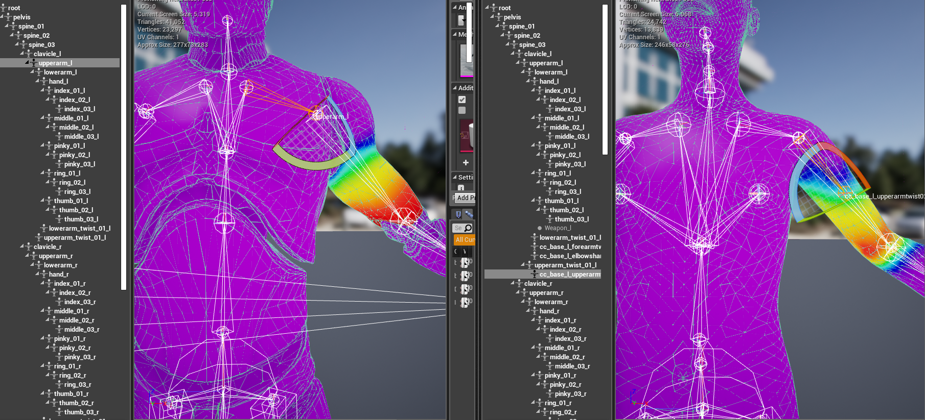UE4 Exported Skeleton Issues