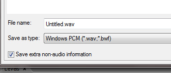 wav file from Adobe Audition CC gives