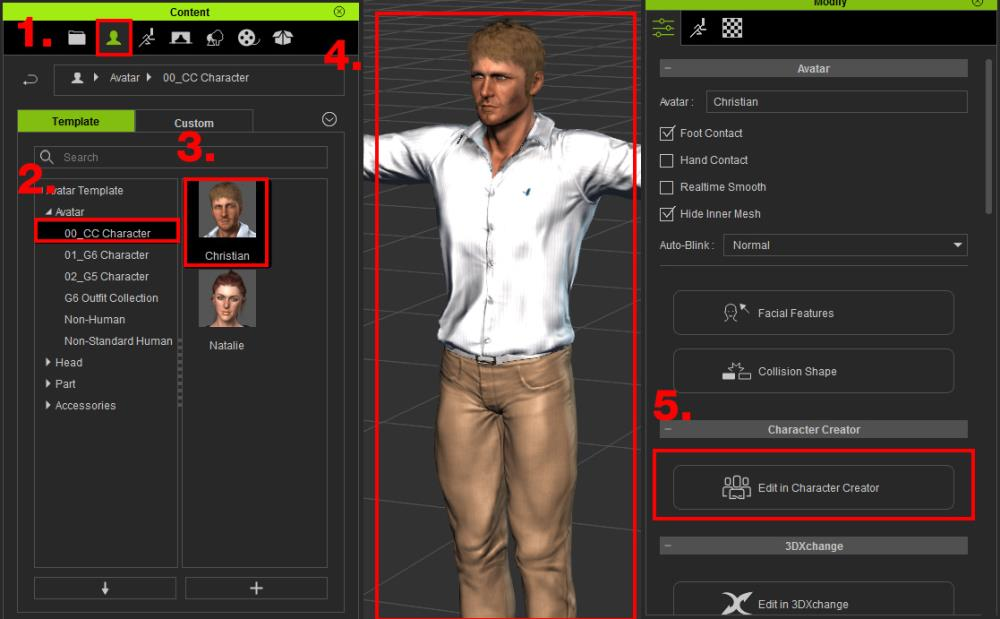 Starting the Character Creator tool