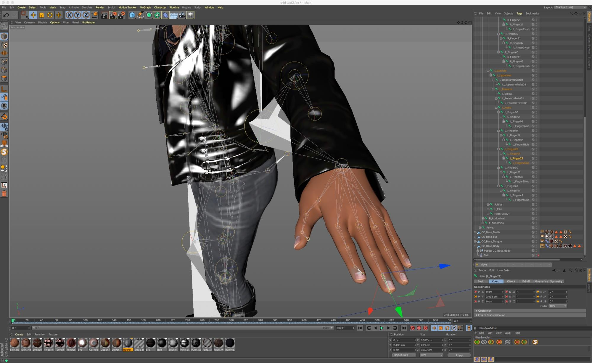 Finger Tips joint weights messed up on FBX to C4D
