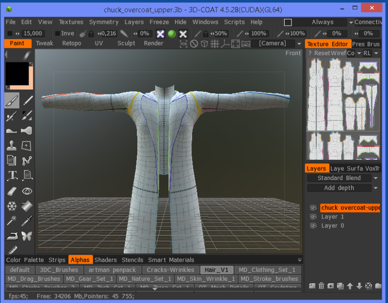 Clone Cloth in 3D Coat
